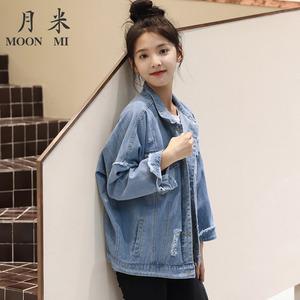9流行新款韩版休闲夹克短款牛仔衣外套女春秋宽松百搭潮