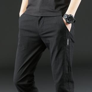 夏季薄款 男士弹力休闲裤