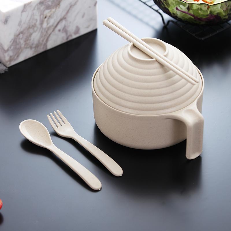 【超值,¥5.9!】带盖泡面碗餐具套装