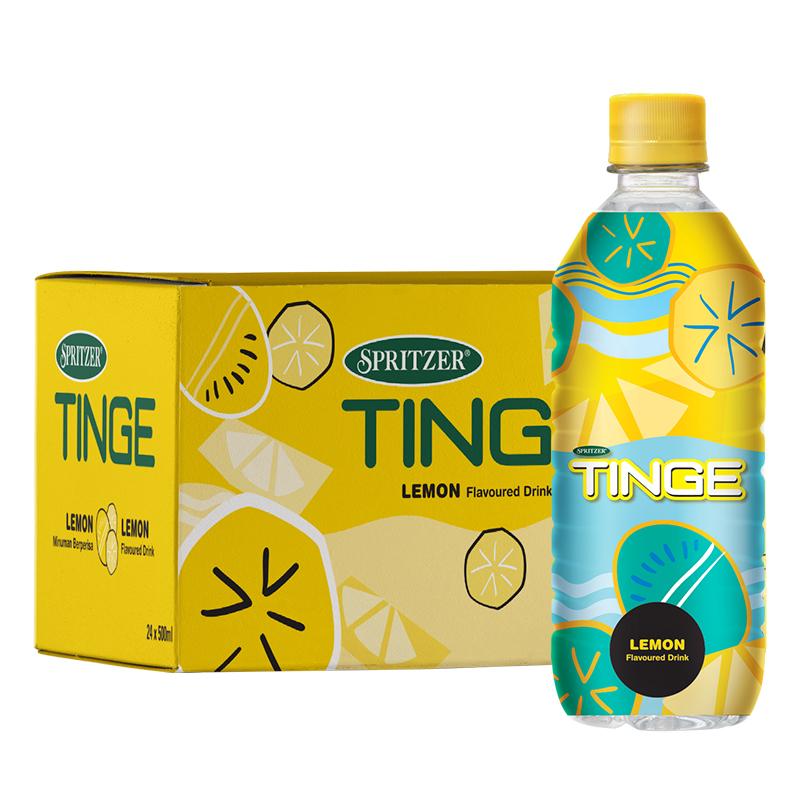 大馬第一飲料品牌 500mlx24瓶 事必勝 Tinge恬趣 檸檬味礦泉水