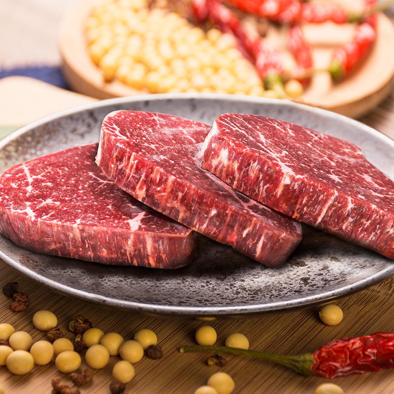 【順豐包郵】澳洲進口:谷言 皇冠整切牛排10片1300g(含和牛腿排2片)+黃油&黑椒醬10包+刀叉1副