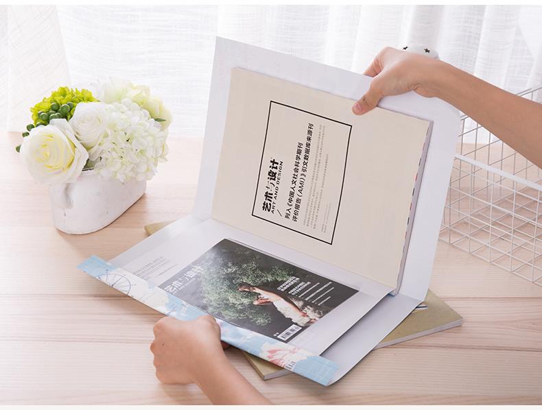 得力70563学生时尚包书纸包书膜书套适用A4/16K/32K 24张/包