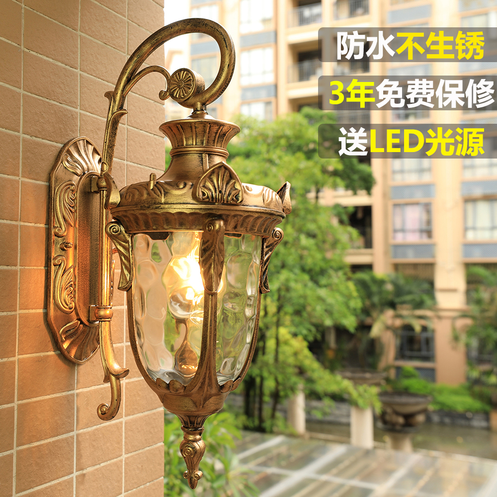 Usd 3914 european outdoor wall lamp american retro courtyard aisle european outdoor wall lamp american retro courtyard aisle lights villa balcony wall lamp led outdoor waterproof aloadofball Choice Image