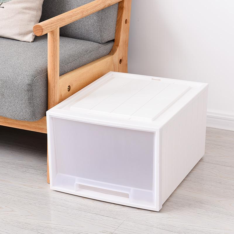 加厚抽屉式衣服自由组合柜透明大号内衣裤塑料整理箱收纳柜储物箱