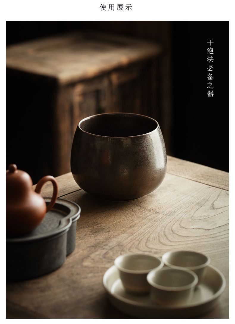 By Japanese tea dishes in hot coarse pottery cylinder cup size writing brush washer from kung fu tea set dry wash to fittings of mercifully method