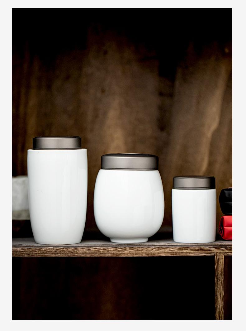 铝盖茶叶罐小创意个性时尚家用陶瓷密封罐普洱储存罐随身便携茶罐