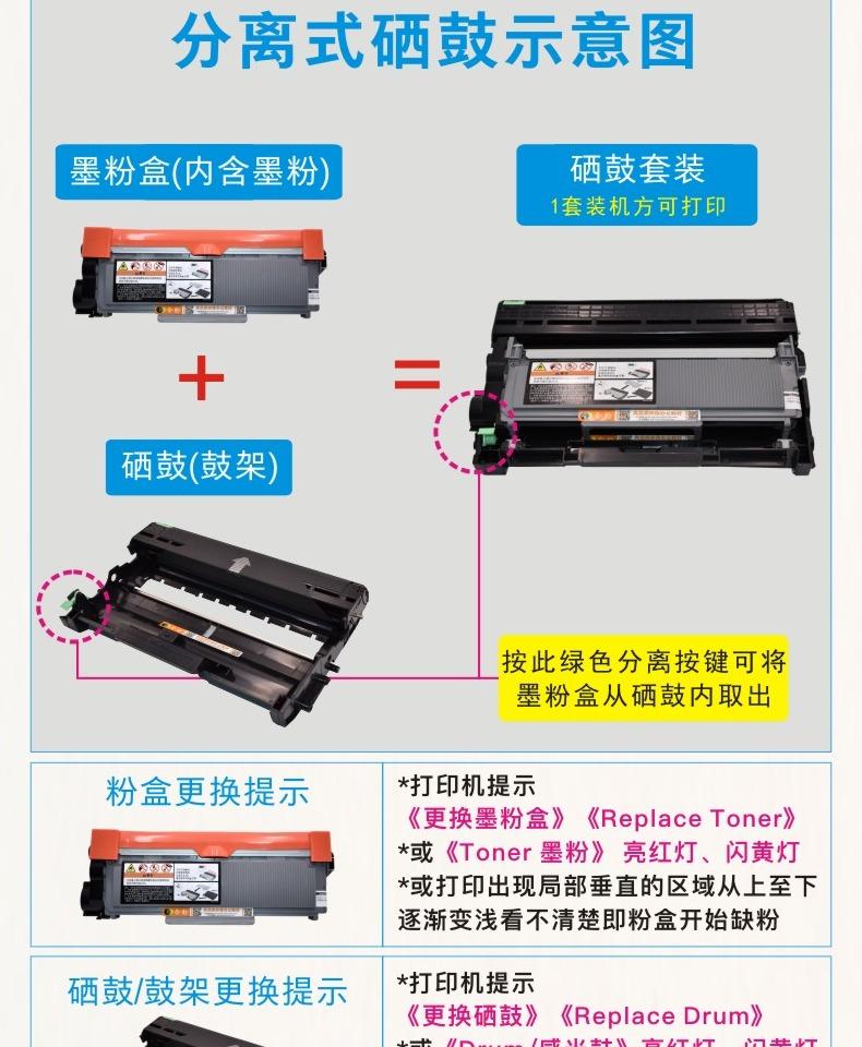 适用联想M7455DNF硒鼓LT2451易加粉大容量墨粉盒LENOVO激光打印墨盒7455粉盒m7455dnf多功能一体机晒鼓LD2451商品详情图