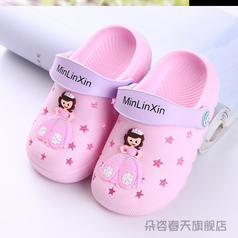 Baby baby slipperbaby baby summer sandals non-slip summer children's hole shoes 1 2 3 3 years 4 two weeks