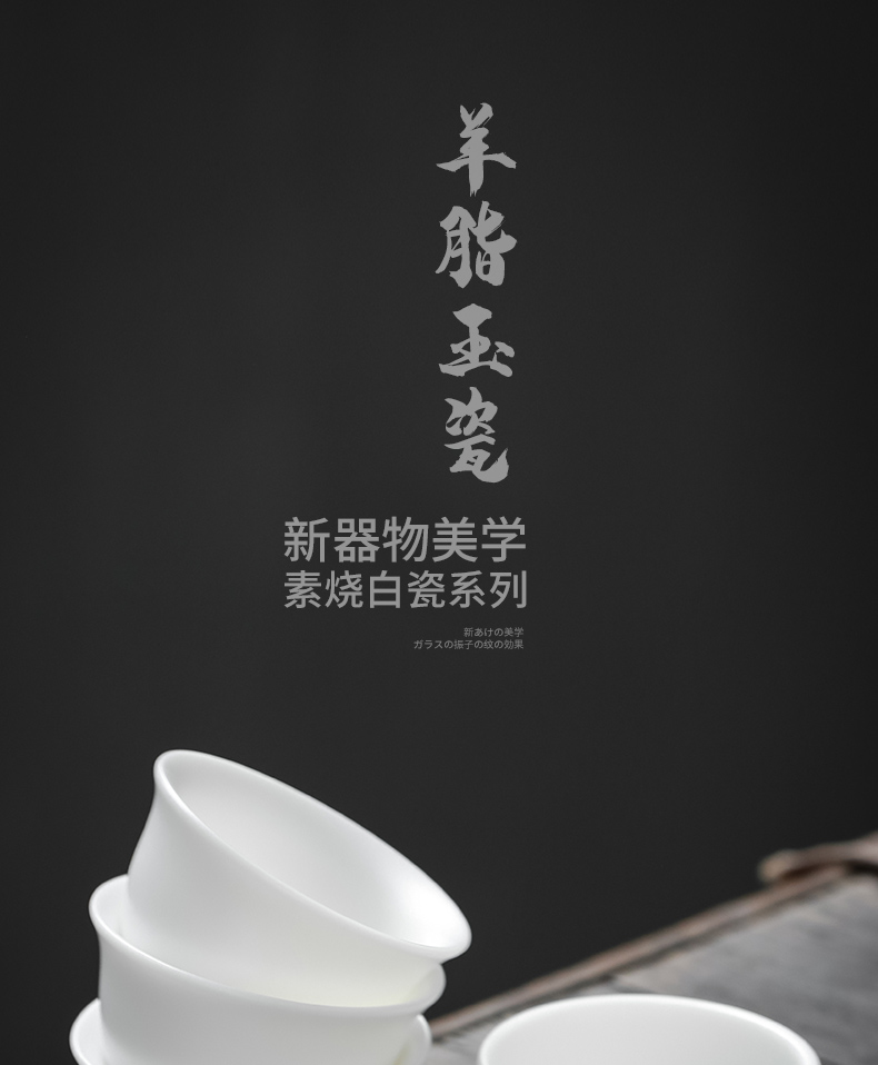 """Precious little listening sample tea cup suet jade teapot dehua white porcelain cups masters cup kung fu tea cup home"