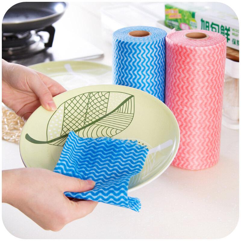 一次性无纺布洗碗布百洁布 多功能厨房不沾油清洁懒人抹布洗碗布