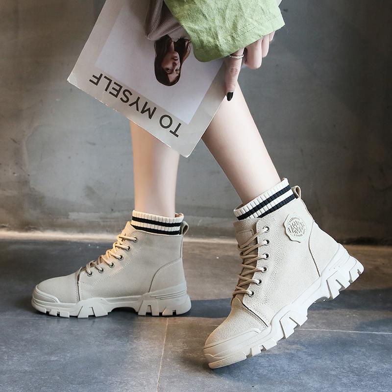 机车女秋冬款短靴帅气马丁靴女英伦风百搭加绒潮靴子鞋ins学生鞋