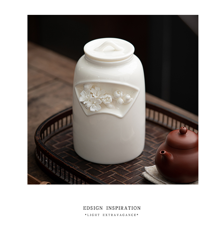"""The Self - """"appropriate content manually caddy fixings pinch flower seal pot receives ceramic POTS retro white porcelain storage tank storage tanks"""