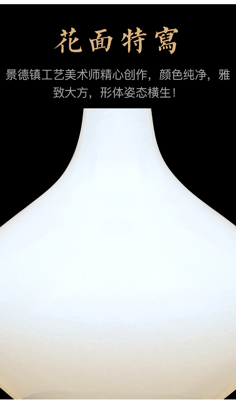 Jingdezhen ceramic vases, antique color glaze furnishing articles household act the role ofing is tasted crafts home sitting room room decoration