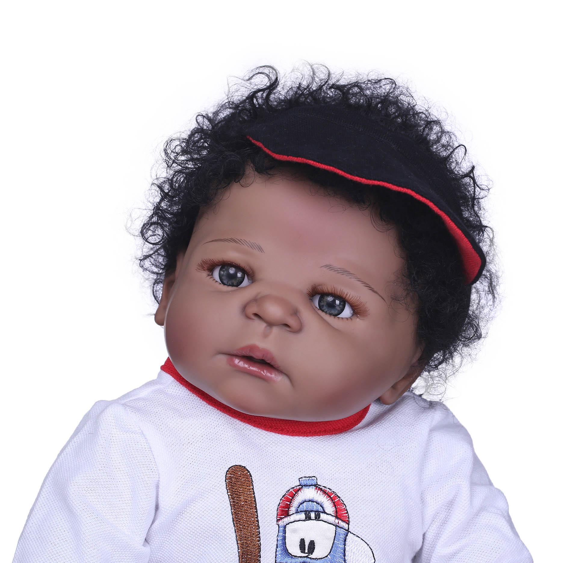 "23/"" Bathable Ethnic Biracial Reborn Baby Girls Dolls Anatomically Correct"