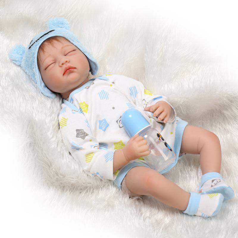 New 22 Girl Reborn Sleeping Doll Silicone Vinyl Newborn
