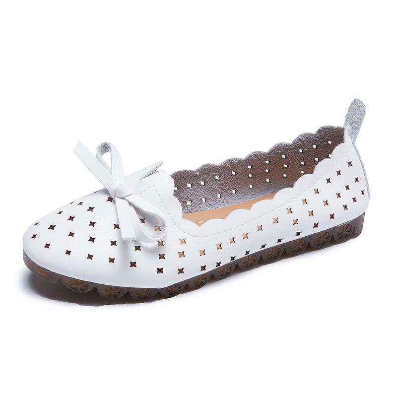 2020新款韩版牛筋软底镂空浅口豆豆鞋