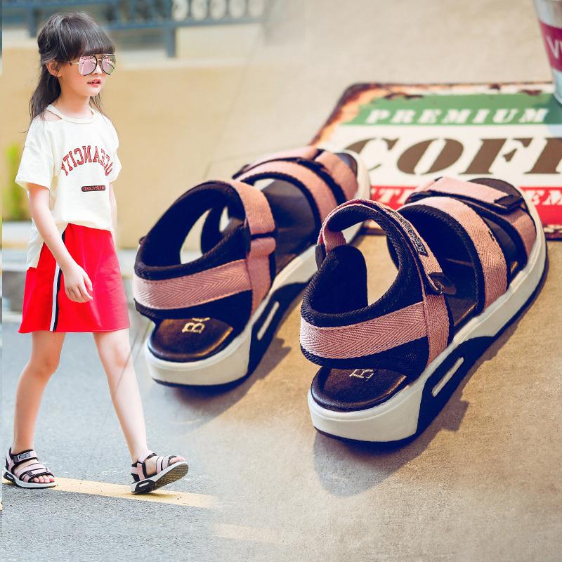 女童夏季男童2019新款童鞋中大童儿童软底韩版女孩凉鞋时尚沙滩鞋