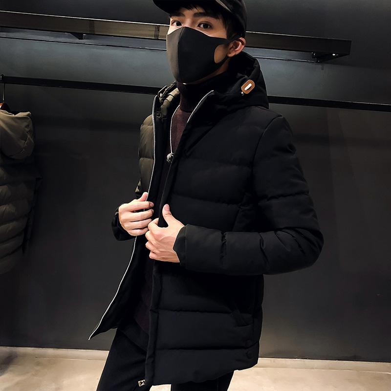 男士棉服羽绒服连帽外套加厚