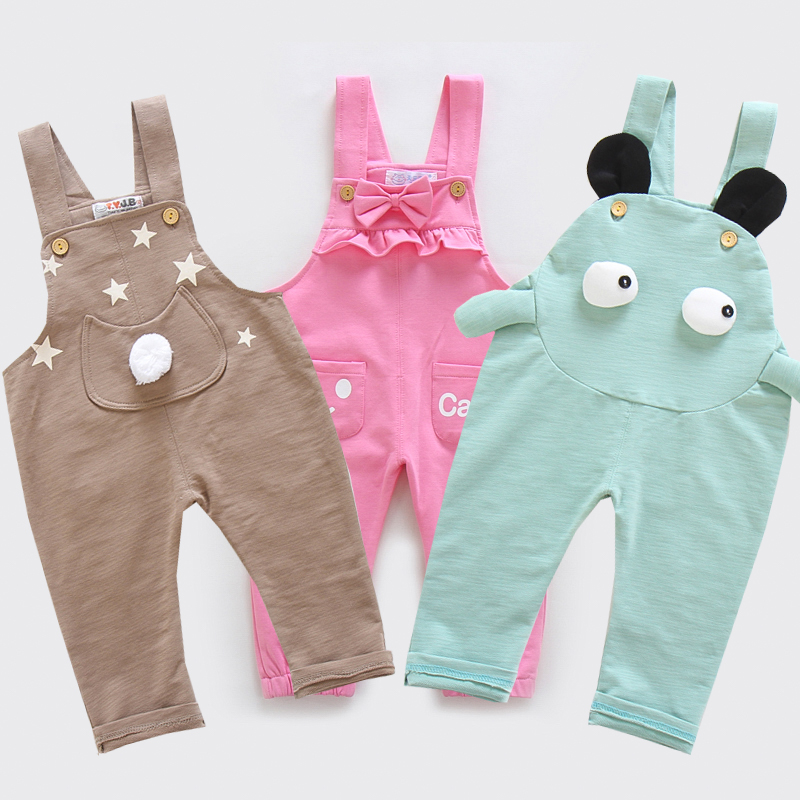Tianyuan Jiabao children's belt pants female spring summer baby pants baby high elastic pants loss clear