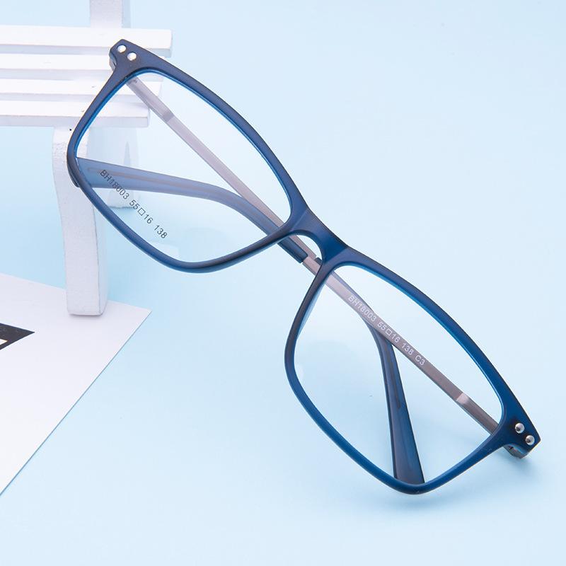博恒眼镜框tr90方形超轻女士配a方形眼镜架男学生全框架BH18003