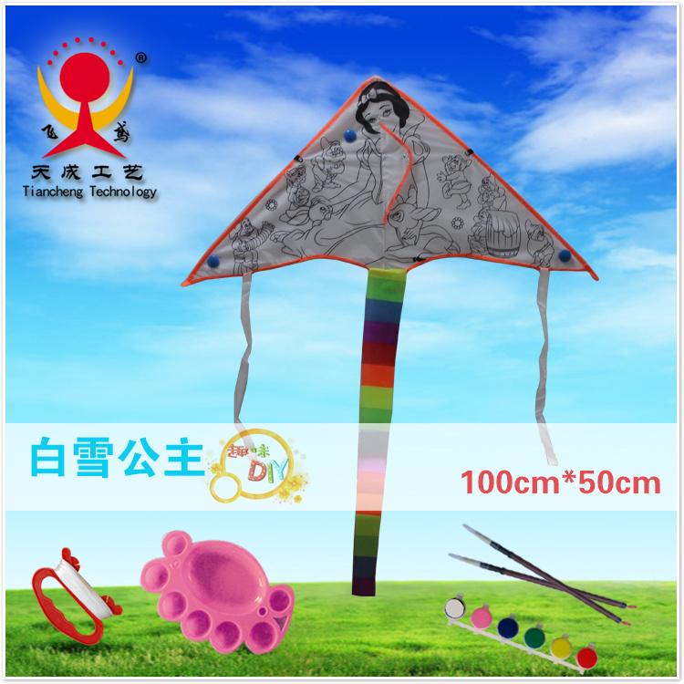潍坊空白风筝 教学风筝 DIY风筝 手绘风筝 现代三角DIY风筝