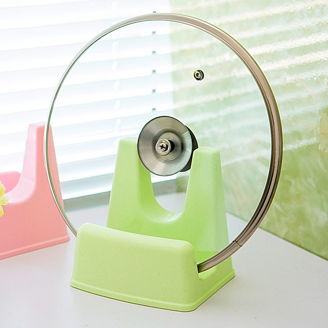 Lid stand Sitting pot lid free punch kitchen cutting board rack cutting board rack plastic storage rack bracket