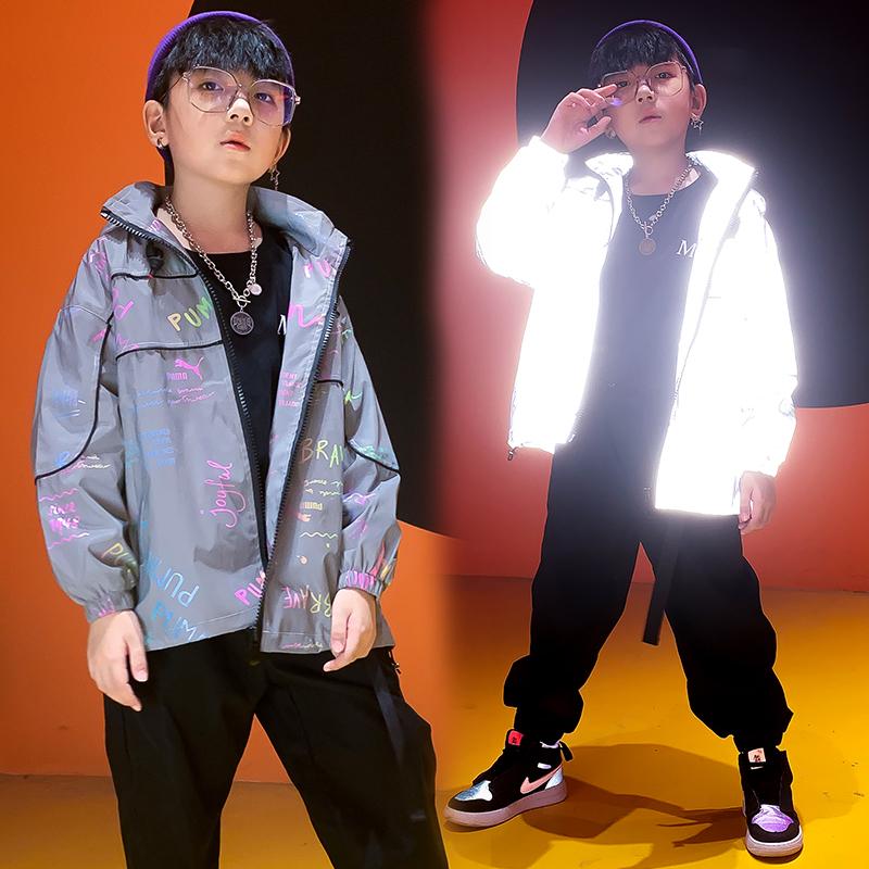 男童外套秋款洋气发光外套2020新款