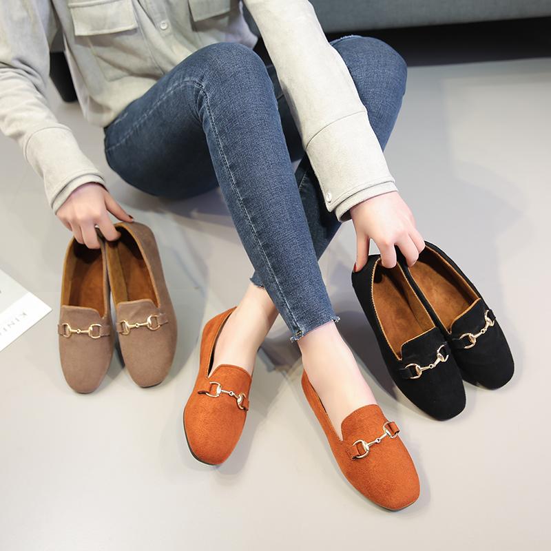 【卫妃】新款舒适软底豆豆鞋