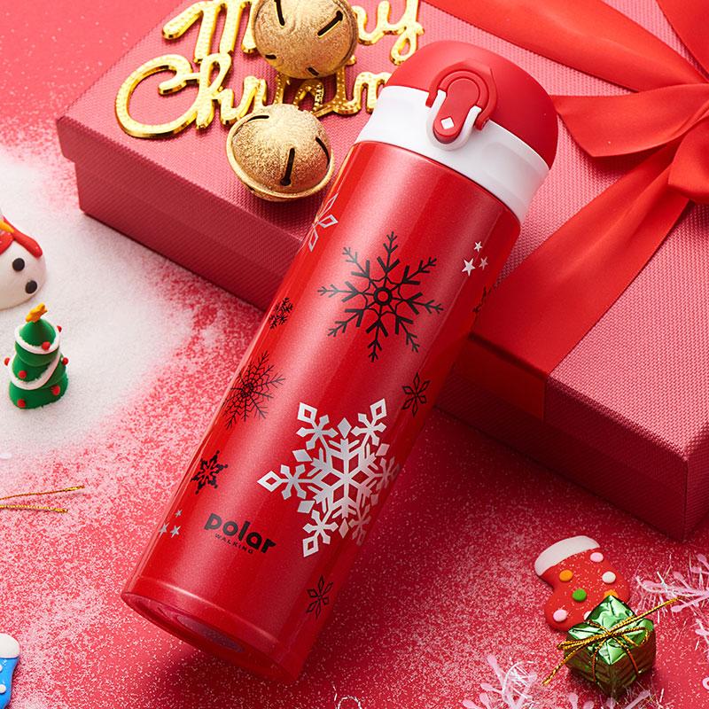 索米拉北极行圣诞主题保温杯,送女生圣诞礼物