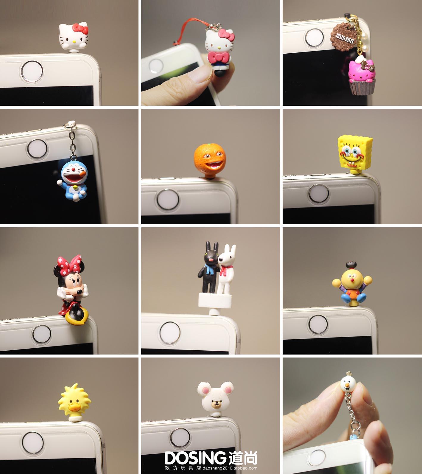 Положительный версия Навалочные грузы оригинал Сотовый телефон пылеуловитель Minnie Laugh orange KT cat Модель Doraemon Doll