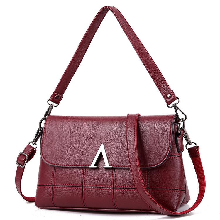 时尚翻盖女包单肩包中年气质妈妈包女士包包斜挎包母亲小方包挂包