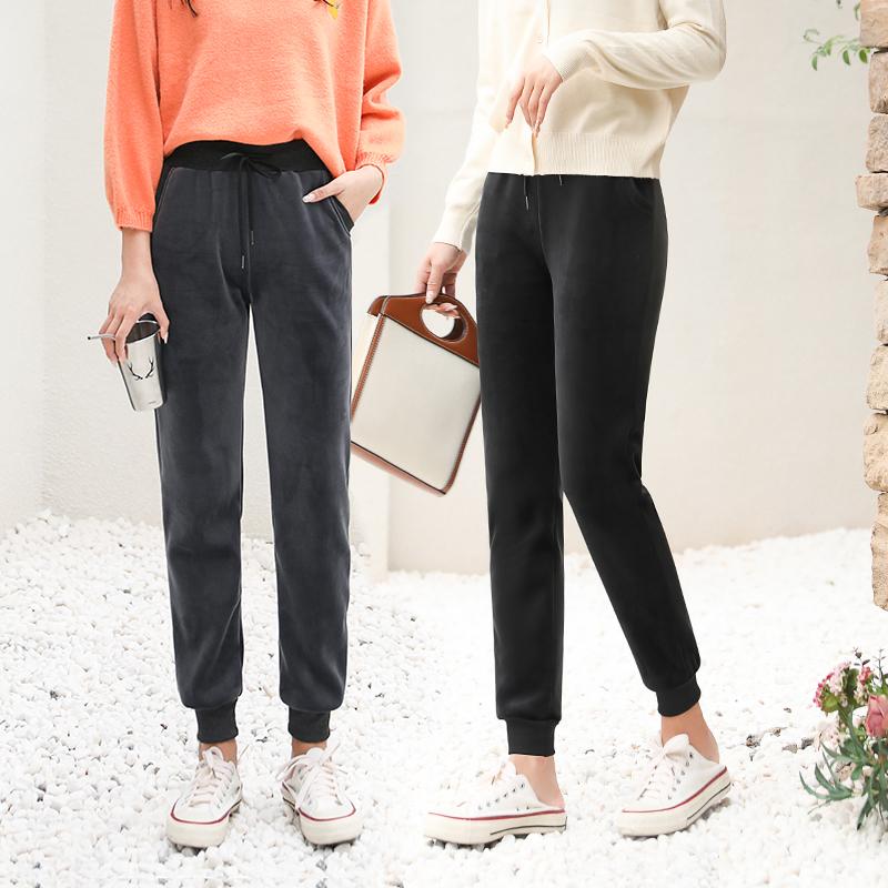 金丝绒卫衣运动套装女装新款加绒加厚秋冬季两件套休闲健身跑步服