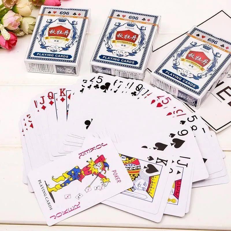 正品秋牡丹厚扑克牌扑克牌创意便宜加厚纸牌娱乐纸牌斗地主扑克牌
