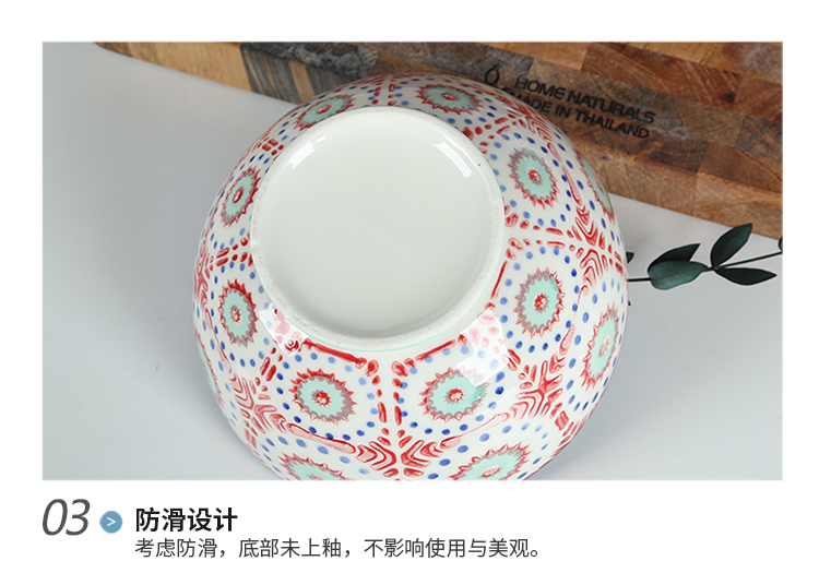 Simple hand - made under glaze color restoring ancient ways Japanese ceramics large ltd. household creative rainbow such as bowl bowl of soup bowl move
