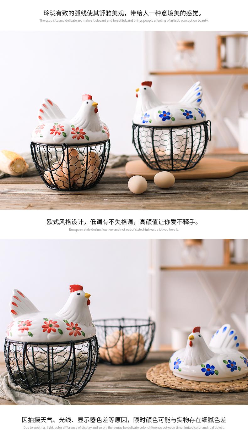 An Egg basket of fruit basket of garlic potatoes sundry blue ceramic kitchen decorating ideas the hen to receive iron basket