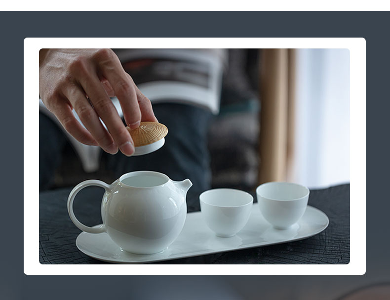 At the beginning of jingdezhen rhyme bamboo filament buckle color business home office tea sets high temperature porcelain teacup gifts gift boxes