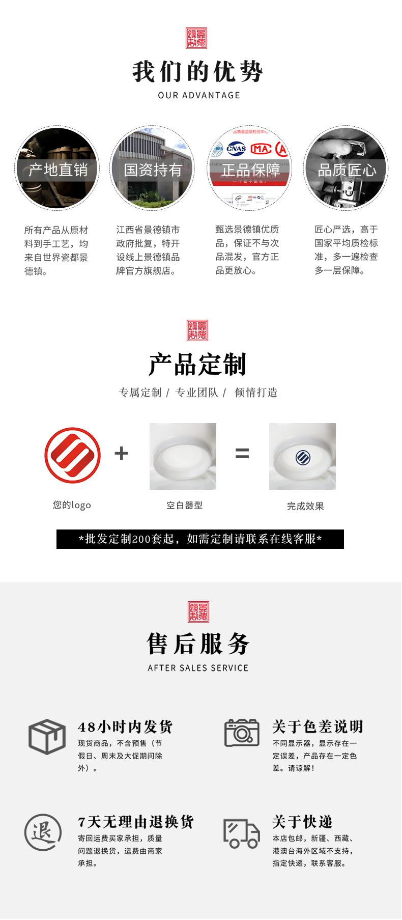 Jingdezhen official flagship store ceramic flower shoe peach to recognize what the set of tea sets tureen tea sample tea cup