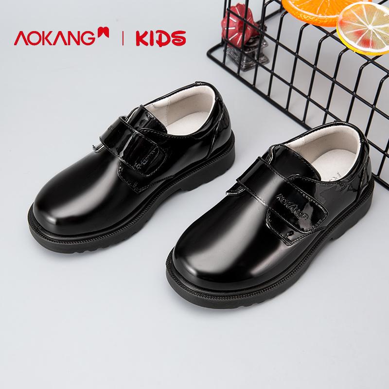 奥康童鞋男童皮鞋2019新款男孩英伦童鞋洋气儿童演出鞋单鞋软底