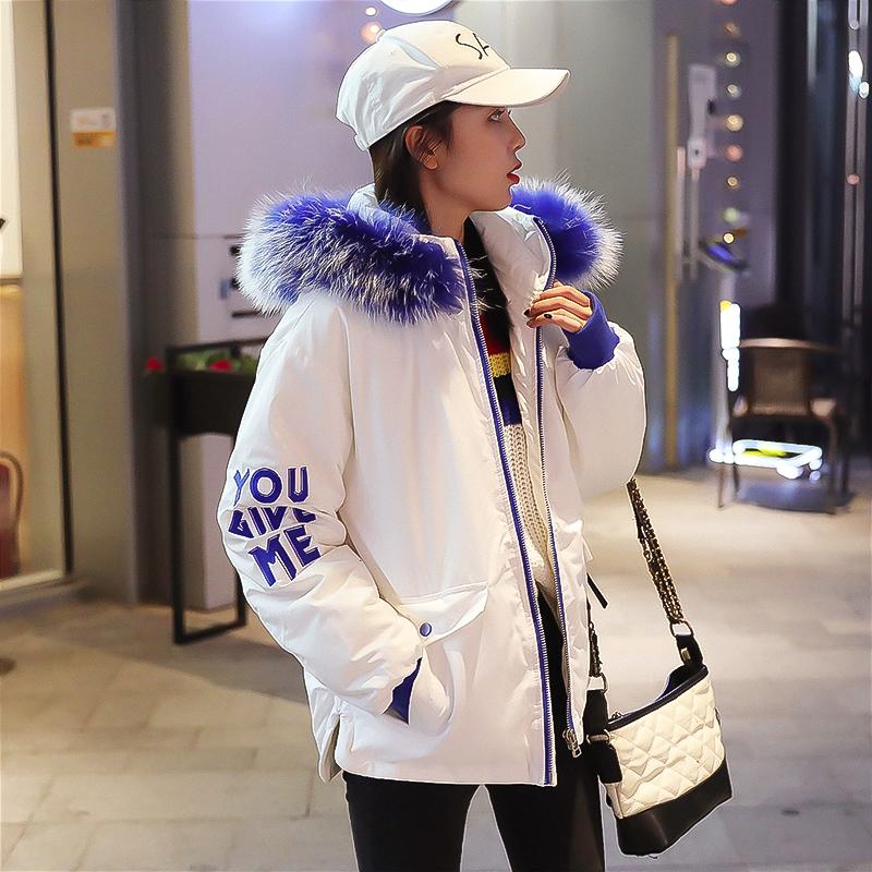 冬季外套棉服女2018新款韩版宽松bf学生面包服短款ins棉衣19