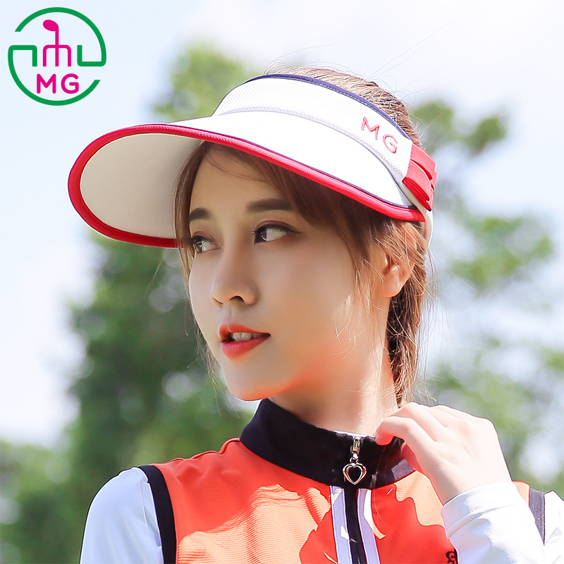 f48a69b0306 2018 New MEETGOLF sports leisure ladies golf hat female sun visor white empty  top hat