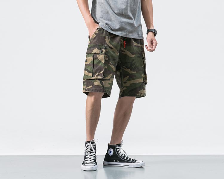 Nhật bản thương hiệu thời trang quần short nam mùa hè lỏng quần bãi biển bình thường ngụy trang năm quần Yu Wenle xu hướng quần