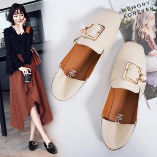 春季韩版【百搭方头】软妹小皮鞋