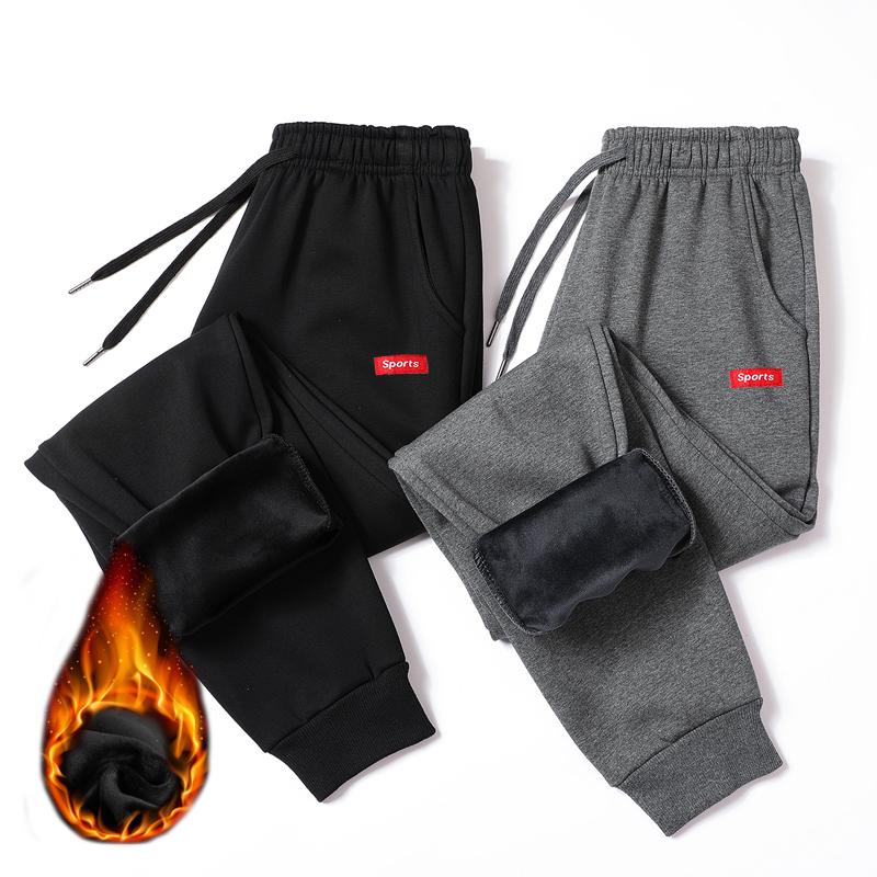 2019加绒裤子男加厚运动裤大码冬季男士加绒宽松休闲男裤潮棉裤