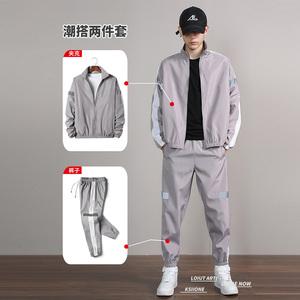 3件套男士卫衣休闲运动服套装韩版