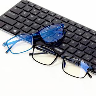 防辐射男女电脑护目防蓝光平光镜近视眼镜框
