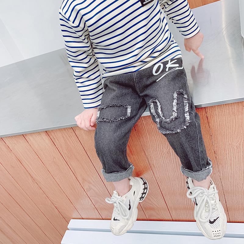 【巧豆熊】潮流百搭男女童牛仔裤童裤