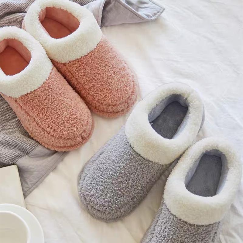启物冬季一家三口亲子棉拖鞋家居母女儿童棉鞋保暖加厚男室内鞋子