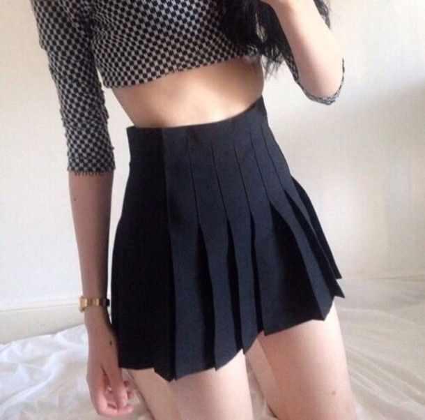 【包邮】版型超好美式复古水原希子带安全裤高腰显瘦百褶裙短裙