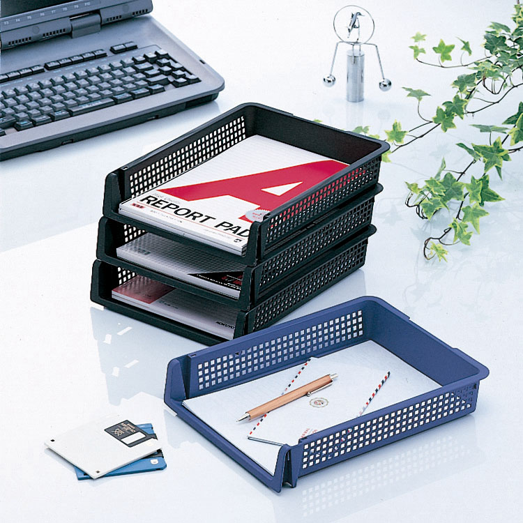 Japan Imported File Storage Rack Office Supplies Information Rack A4 Paper  Storage Basket Desktop Plastic Multi