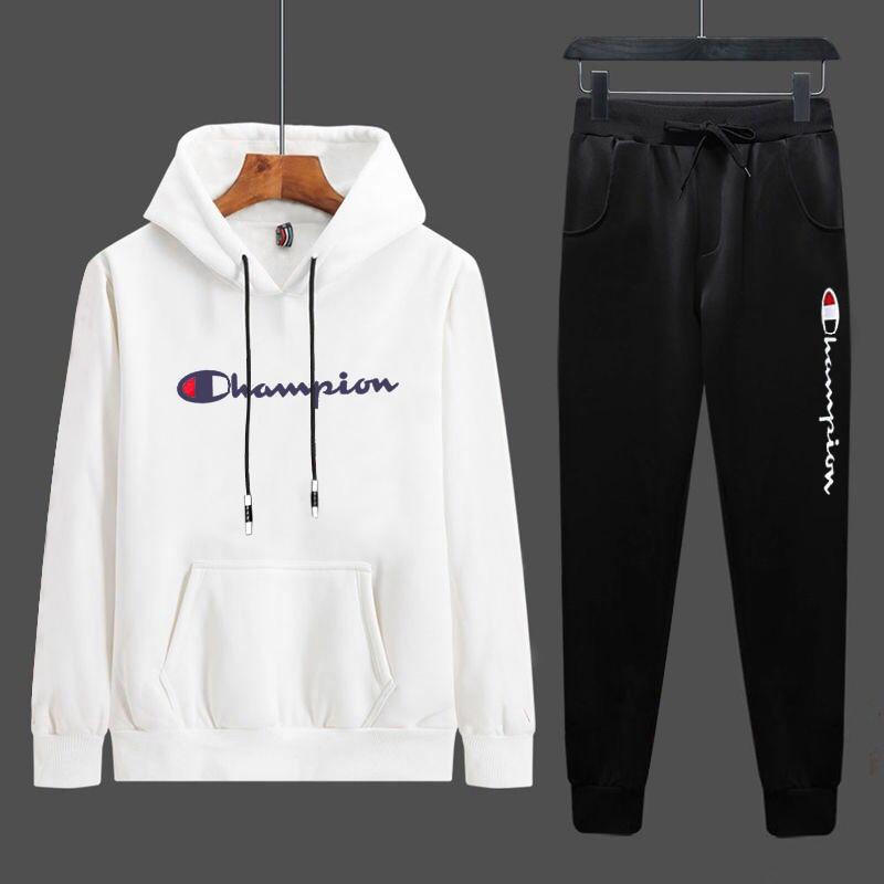 2020春季新款件套两时尚男士v件套运动服青年男式卫衣套装学生百搭